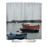 Safe Harbour On A Murky Day Shower Curtain