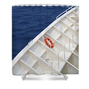 Safety At Sea Shower Curtain