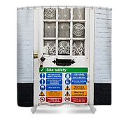 Safety Sign Shower Curtain