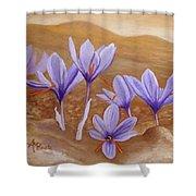 Saffron Flowers Shower Curtain