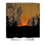 Saffron Sunset Shower Curtain