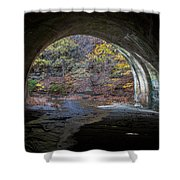 Sagamore Creek Tunnel Exit Interior Shower Curtain