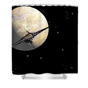 Sagan Station At Betelgeuse  IIi Shower Curtain