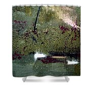 Sage And Plum Shower Curtain