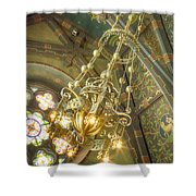 Sage Chapel Ceiling And Light Shower Curtain