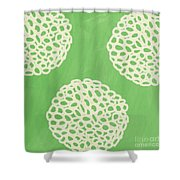 Sage Garden Bloom Shower Curtain by Linda Woods
