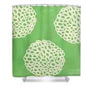 Sage Garden Bloom Shower Curtain by Linda Woods