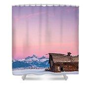 Saggy, Teton Valley, Barn Shower Curtain