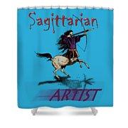 Sagittarian Artist Shower Curtain