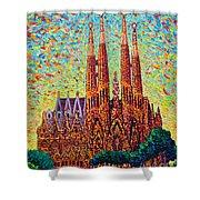 Sagrada Familia Barcelona Spain Shower Curtain