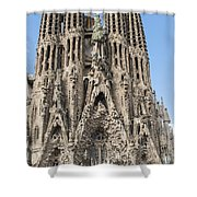 Sagrada Familia - Gaudi Designed - Barcelona Spain Shower Curtain