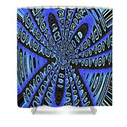Saguaro Forest Abstract #2 Shower Curtain