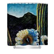 Saguaro In Bloom Shower Curtain