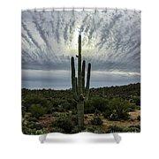 Saguaro Sun Break Clouds Shower Curtain