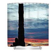 Saguaro Sunset Portrait Shower Curtain