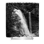 Sahalie Falls No. 4 Bw Shower Curtain
