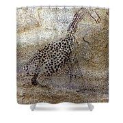 Saharan Rock Painting Shower Curtain