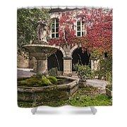 Saignon Fountain Provence  Shower Curtain