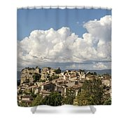 Saignon Village Provence  Shower Curtain by Juergen Held
