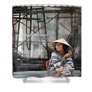 Saigon Lady Shower Curtain