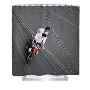 Saigon Wires Shower Curtain