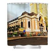 Saigon's Opera House Vietnam Shower Curtain