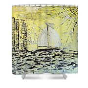 Sail And Sunrays Shower Curtain