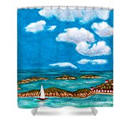 Sail Around The Islands Shower Curtain