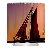 Sail At Sunset Shower Curtain