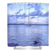 Sail Away Devils Island Shower Curtain