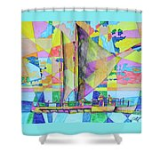 Sail Away Sunset Shower Curtain