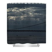 Sail Beneath The Mighty Mac Shower Curtain