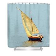 Sail Boat Madagascar  Shower Curtain