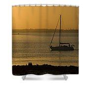Sail Boat Sunset Shower Curtain