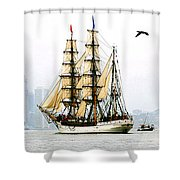 Europa And Adirondack Shower Curtain