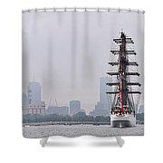Sail Boston 2017 Union And Spirit Of South Carolina Shower Curtain