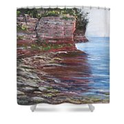 Sail Into The Light Shower Curtain by Jan Byington