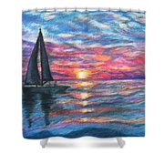 Sail On And Fly Like The Wind Shower Curtain by The Art With A Heart By Charlotte Phillips