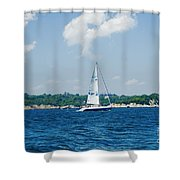 Sail1 Shower Curtain