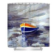 Sailboat 1.0 Shower Curtain