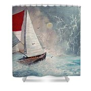 Sailboat 2 Shower Curtain
