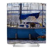 Sailboat And Dingy Shower Curtain