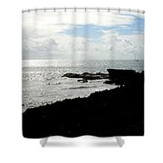 Sailboat At Point Shower Curtain