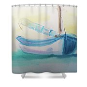 Sailboat At Rest 4 Shower Curtain
