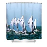Sailboat Championship Regatta Shower Curtain