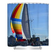 Sailboat In Seattle Shower Curtain