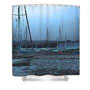 Sailboat Harbor Shower Curtain