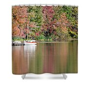Sailboat In A Lake Shower Curtain