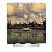 Sailboat In Georgetown Shower Curtain