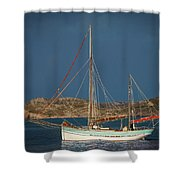 Sailboat In Iona Bay Shower Curtain
